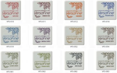 VersaFine Pigment Small Ink Pad - Complete Set of 12