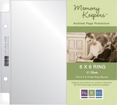 "We R Memory Keepers - 6""x6"" Ring Page Protectors (10 pack)"