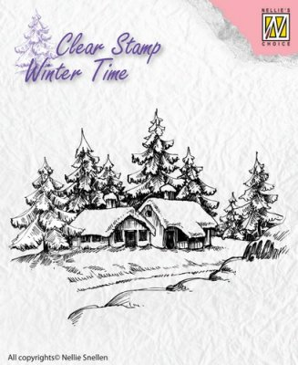 Nellies Choice Clearstamp - Winter Time Wintery House
