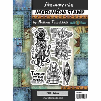 Stamperia Mixed Media Stamps - Octopus
