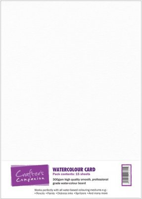 Crafters Companion A4 Watercolour Card (15 sheets)