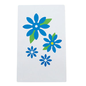 DIE-CUT STENCIL RECTANGLE MEDIUM - DAISY COLLECTION