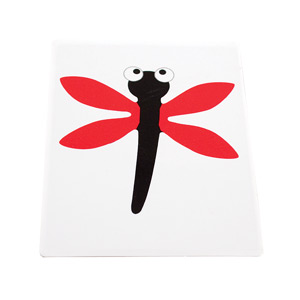 DIE-CUT STENCIL RECTANGLE MEDIUM - FUN DRAGONFLY