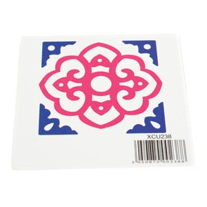 DIE-CUT STENCIL - SQUARE TILE DESIGN