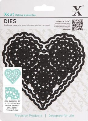 Xcut Die - Vintage Notes (Filigree Heart)
