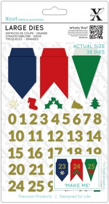 Xcut Large Dies - Advent Bunting (38 dies)