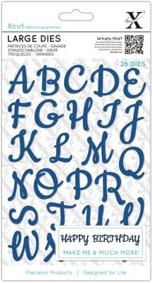 Xcut Large Die Set - Script Alphabet Upper Case