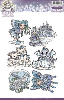 Yvonne Creations Clear Stamp Set - Magical Winter