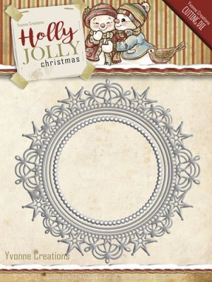 Yvonne Creations Dies - Holly Jolly Nesting Frame