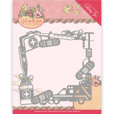 Yvonne Creations Dies - Get Well Soon Get Well Frame
