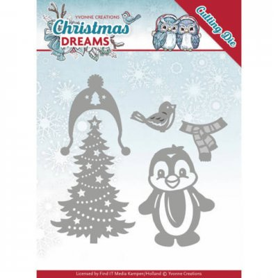 Yvonne Creations Dies - Christmas Dreams Christmas Penguin
