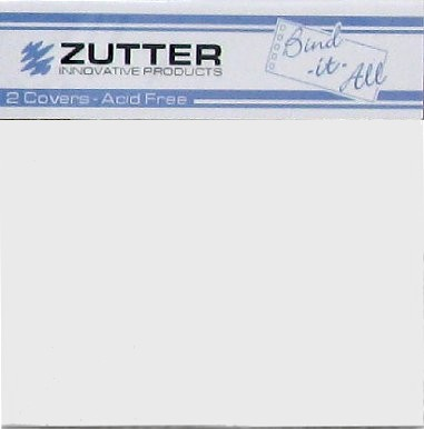 "Zutter Bind-It-All 2.8mm Chipboard Covers 4""x4"" - White (2 pack)"